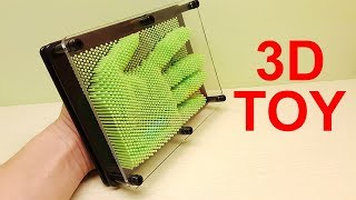 Pin Art Toy! Cool 3d Toy! 3d Toys for kids Toy unboxing Videos for kids Pin art tricks