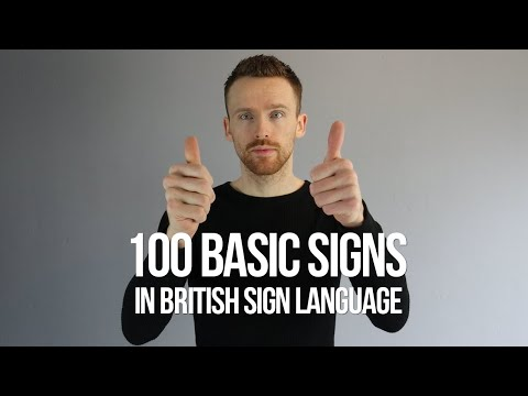 100 Basic Signs in British Sign Language (BSL) from YouTube · Duration:  14 minutes 49 seconds