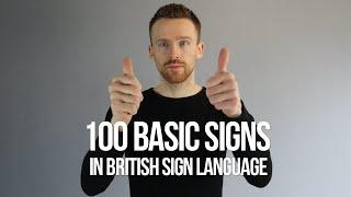100 Basic Signs iฑ British Sign Language (BSL)