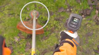 Husqvarna Battery Brushcutter 535iRXT - ErgoFeed®Function - Saving Time, Effort and Trimmer Line