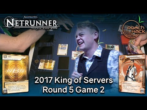 Netrunner - Controlling the Message vs. Valencia Estevez - 2017 King of Servers - Round 5 Game 2