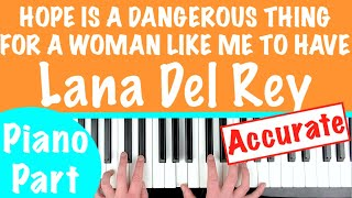 Baixar How to play 'HOPE IS A DANGEROUS THING' - Lana Del Rey | Piano Chords Tutorial