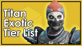 Destiny Forsaken: The Best & Worst Titan Exotic Armor (Datto