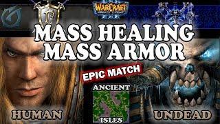 Grubby | Warcraft 3 The Frozen Throne | 1.26 | HU v UD - Mass Healing, Mass Armor - AI