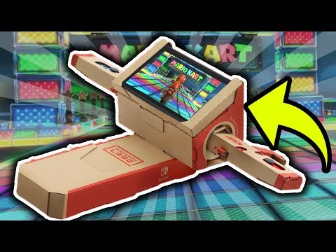 Making Rainbow Road with Nintendo Labo! Mario Kart 9?