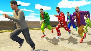 Can You Escape CRAZY Clowns in GTA 5? (GTA 5 Roleplay)