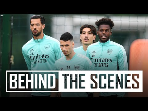 Getting ready for Brentford!  |  Behind the scenes at the Arsenal training center