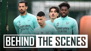Getting set for Brentford! | Behind the scenes at Arsenal training centre