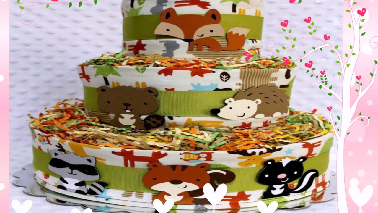 Woodland Animals Baby Shower Cake Youtube