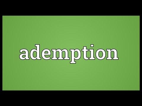 Header of ademption
