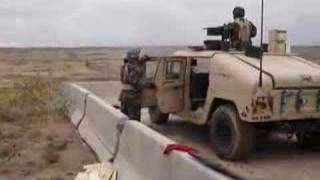 50 cal m2 firing full auto from a humvee in fort carson