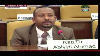Gaaffii tokkummaa Oromoofi deebii Dr.Abiyyii Ahimadiin  kenname