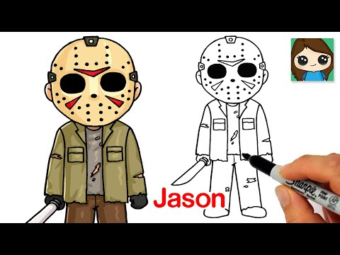 How to Draw Jason Voorhees from Friday the 13th 🎃Halloween Art