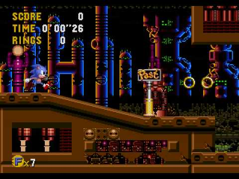 Sonic Cd Sega Mega Cd Bad Future Run Part 7 Metallic