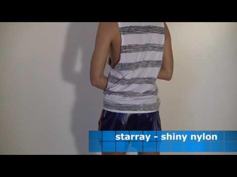 Shiny starray shorts nylon polyamid glänzende Sporthosen thumbnail