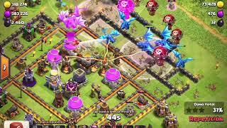 Clash Of Clans ataque Th12-Dragones Eléctricos