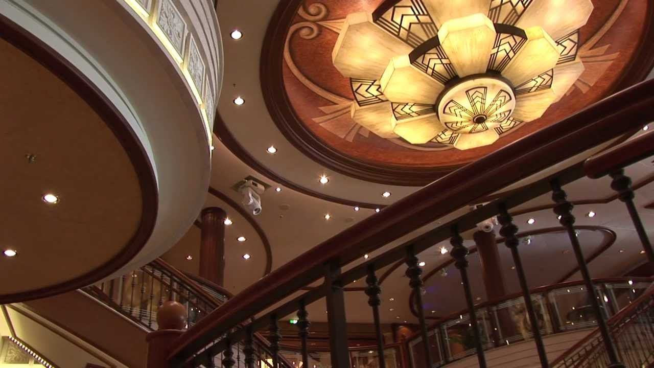 Cunard  Queen Elizabeth Interior Design  YouTube
