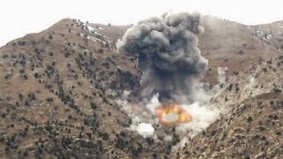 Mortar and JDAM Strike on Taliban Position