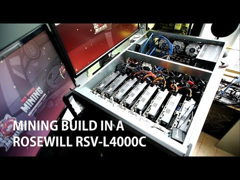 Building A Mining Rig Into A Rosewill RSV-L4000C Server Case!