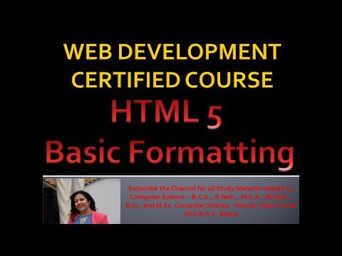 Html Formatting Tags   Changing Colours   Web Development Certified Course