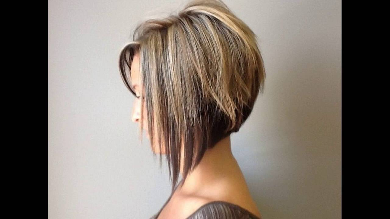 Graduated Bob Hairstyle Round Faces Short Hair