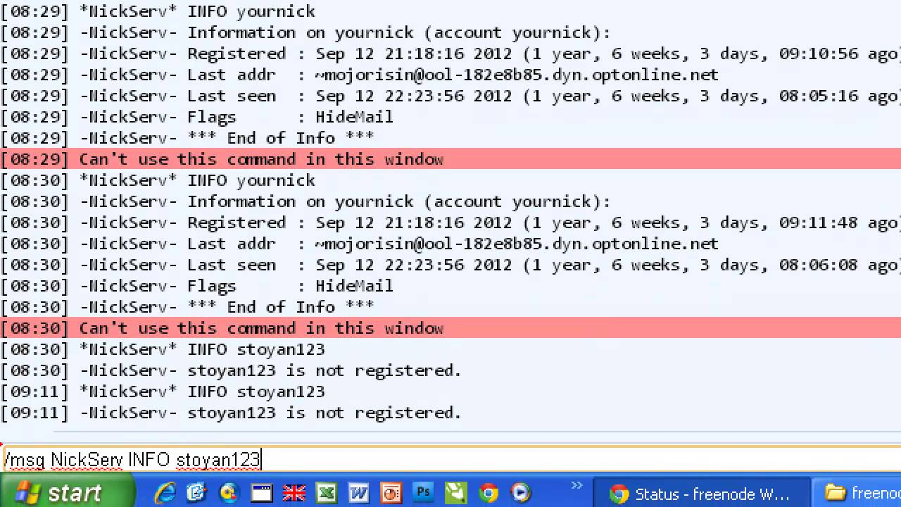 How to Register Your Own Nick in IRC network freenode net? Join #coolcsn  channel
