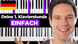 How to play piąno - Your FIRST piano lesson - GERMAN Version