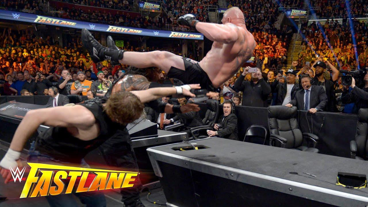 Download Reigns vs. Ambrose vs. Lesnar - Winner faces Triple H at WrestleMania: WWE Fastlane 2016