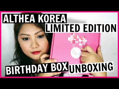 Happy Birthday Althea Korea! | Limited Edition Birthday Box Unboxing