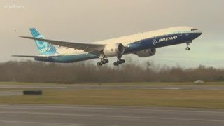 Boeing's New 777x Takes Off On Its First Test Flight
