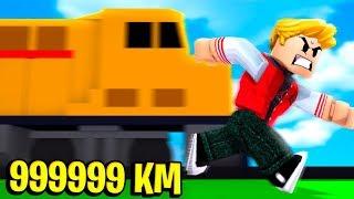 FIQUEI SUPER RÁPIDO NO ROBLOX ! (999.999.999 KM)