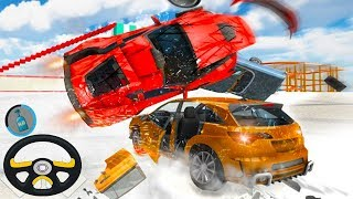 Car JUMPS  CRUSHES Top Racer Extreme Car Stunts