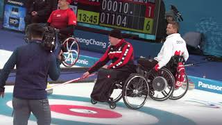 Wheelchair Curling live video : ) Paralympics 2018 (2of4) 'Sheet B' Canada : Switzerland