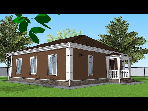 Проект Дома 10 на 10 , Планировка Дома 100 квадратов , Дом из газобетона