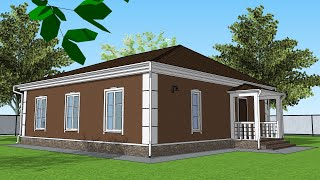 Проект Дома 10 на 10 Планировка Дома 100 квадратов Дом из газобетона