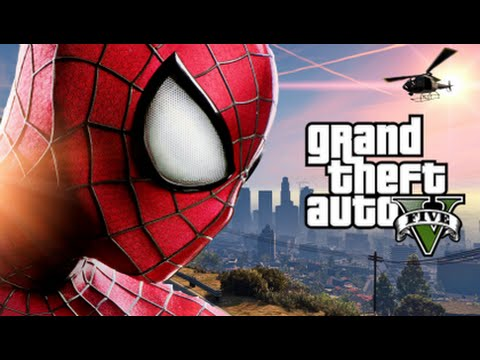 GTA 5 Mods - SPIDERMAN MOD! (GTA 5 PC Mods Gameplay)(Funny M