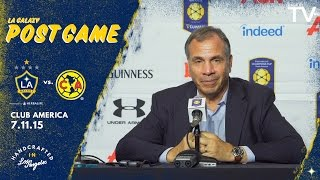 """Bruce ARENA on Club America win: """"Our entire group played well""""   POSTGAME"""