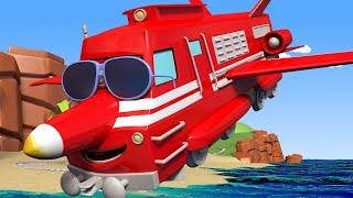 Поезд Трой -  РЕАКТИВНЫЙ САМОЛЁТ Трой снимает Тину с горы! - детский мультфильм
