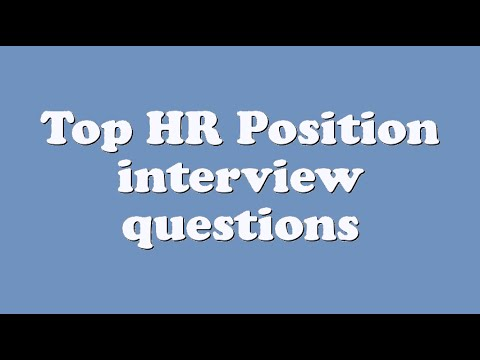 interview questions for hr position