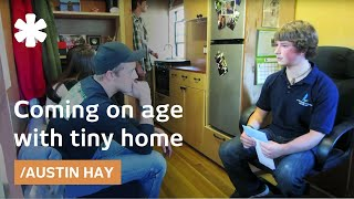 Teen Tiny House Builder Austin Hay Finishes Dorm On Wheels