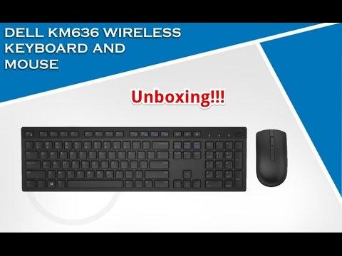 98a9dc886a3 Unboxing e Overview Kit Teclado e Mouse Wireless Dell KM636 Padrão ABNT