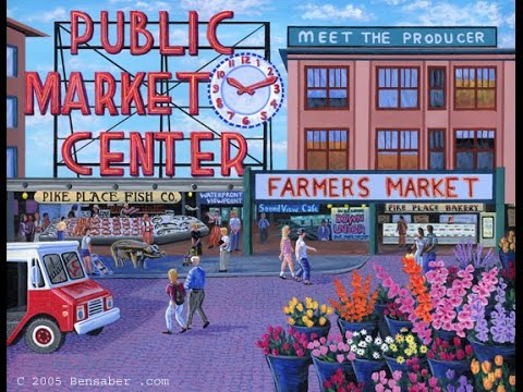 Pike Place Market In Seattle 2015 Home Of The First Starbucks Store