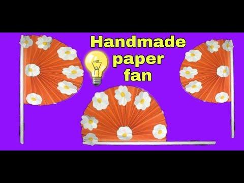 Handmade paper fan | how to make paper fan | KOPI KO DIY