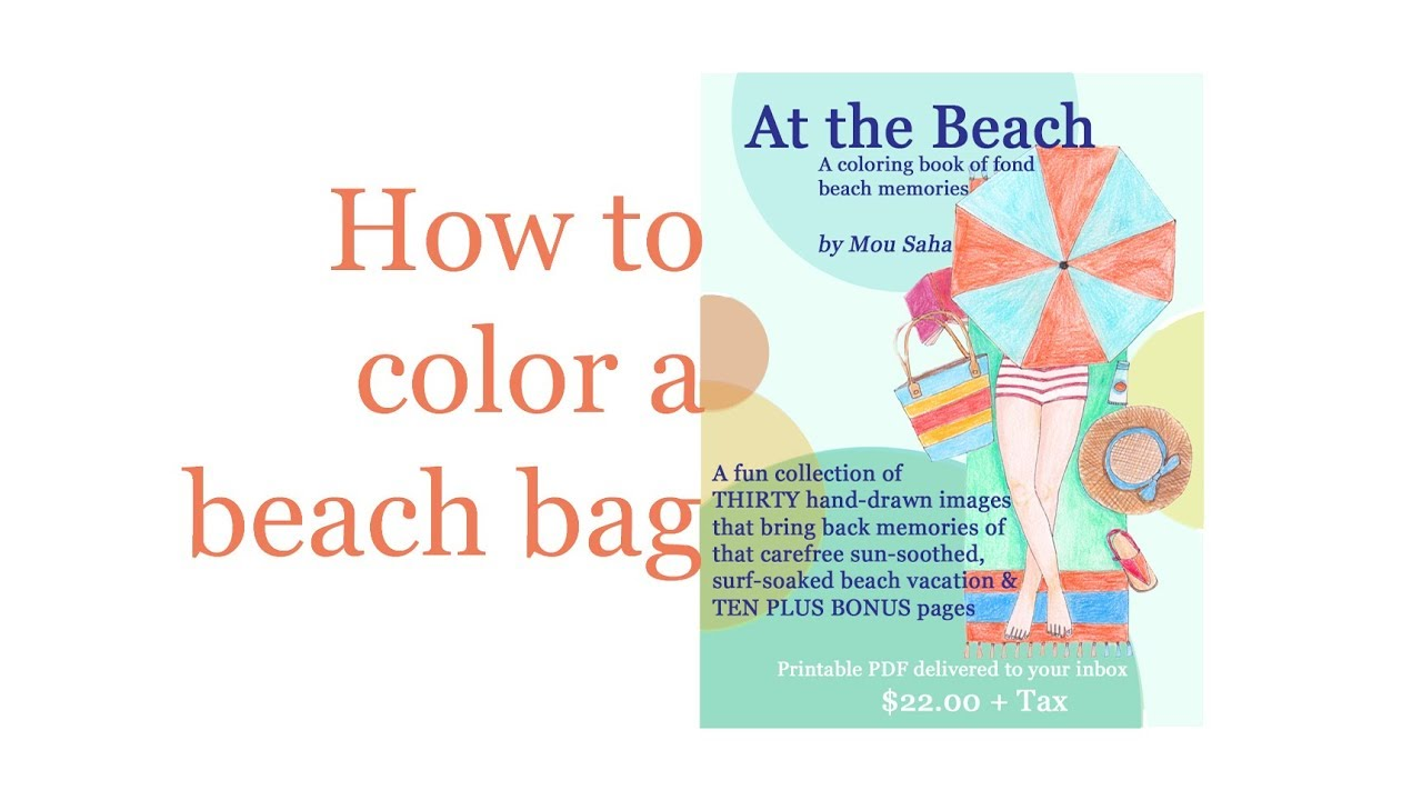 How To Color A Beach Bag Printable Coloring Page
