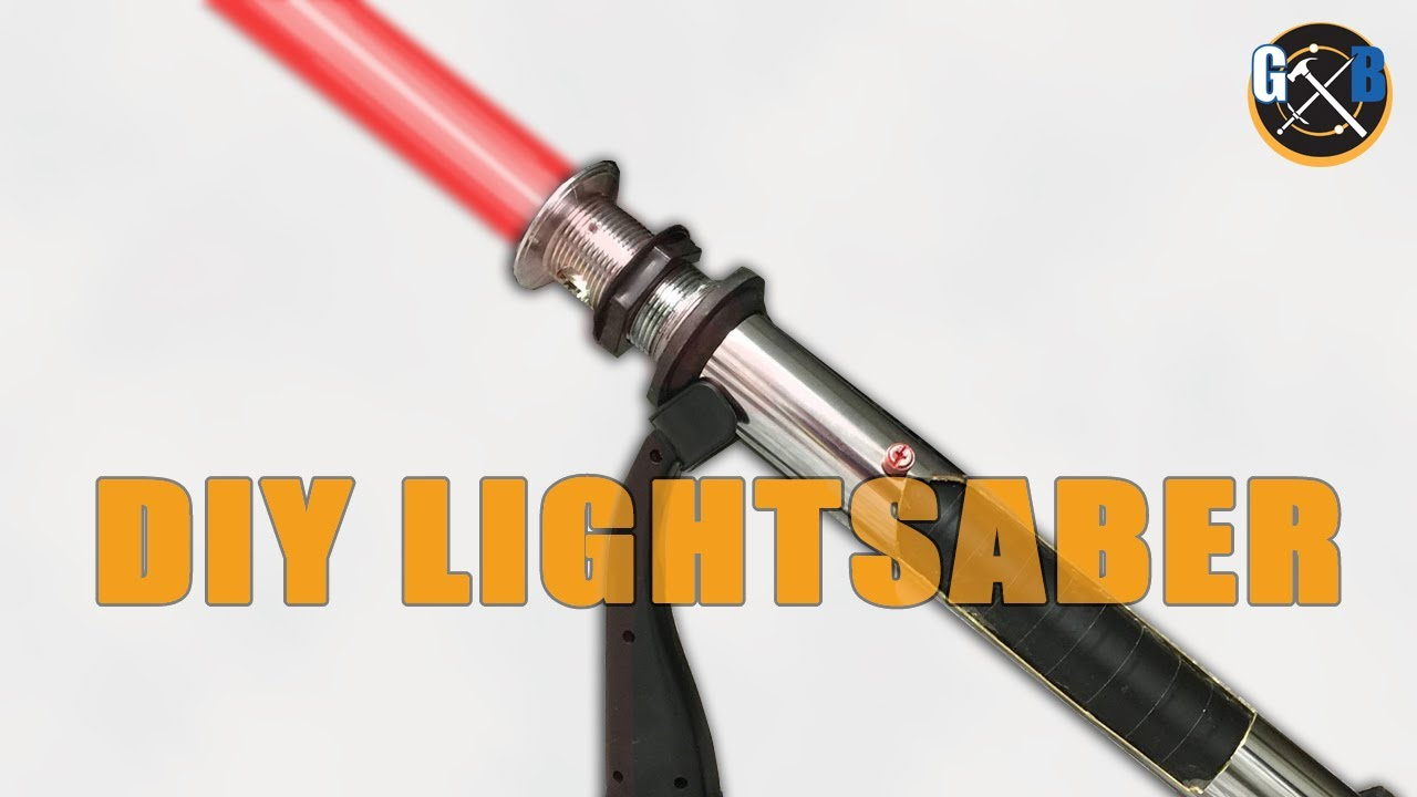 Star Wars DIY Custom Lightsaber Build And Epic Battle :: How To   YouTube