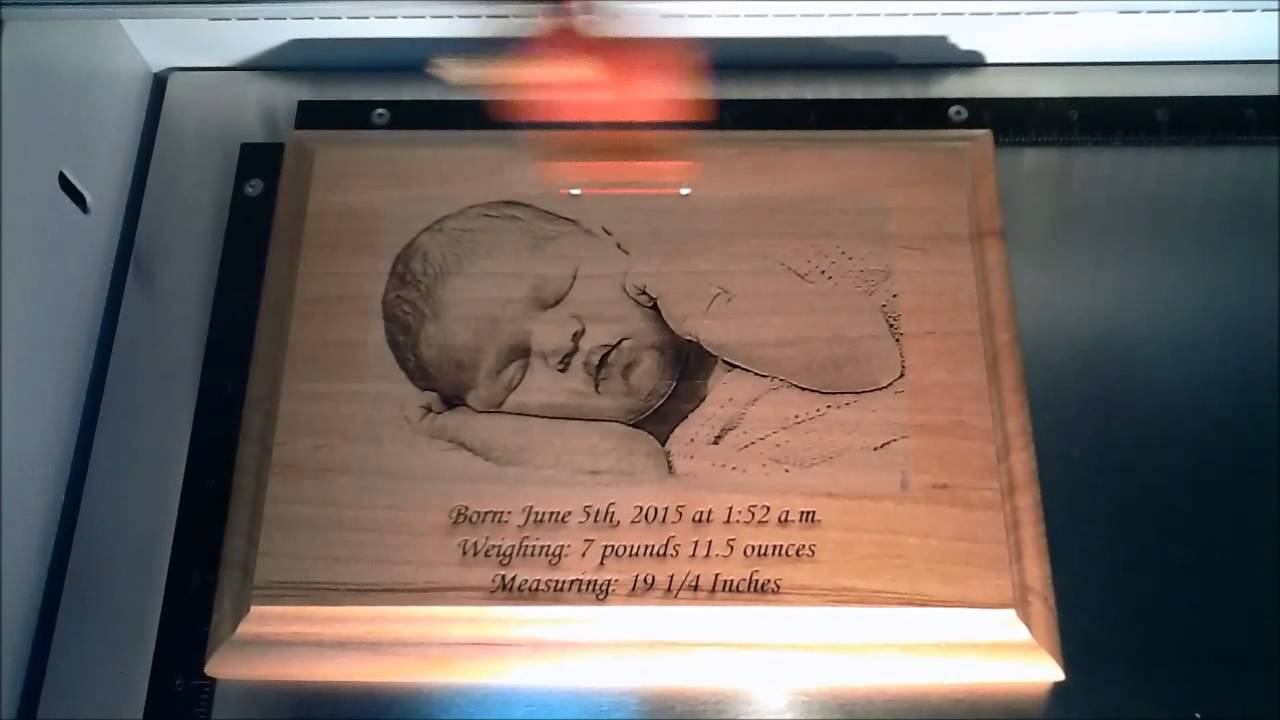 Laser Engraved Wooden Baby Photo Plaque - Laser Perfect Gifts ...