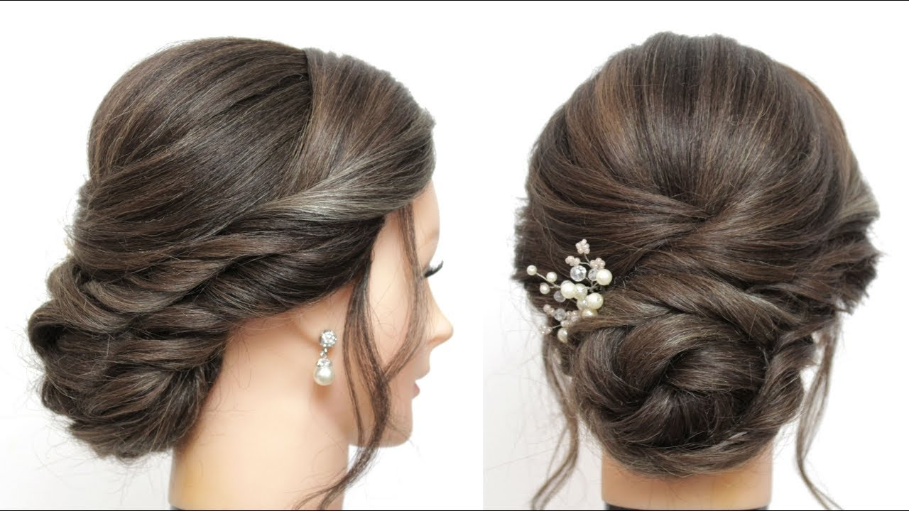Wedding Updo. Bridal Prom Hairstyles For Long Hair Tutorial