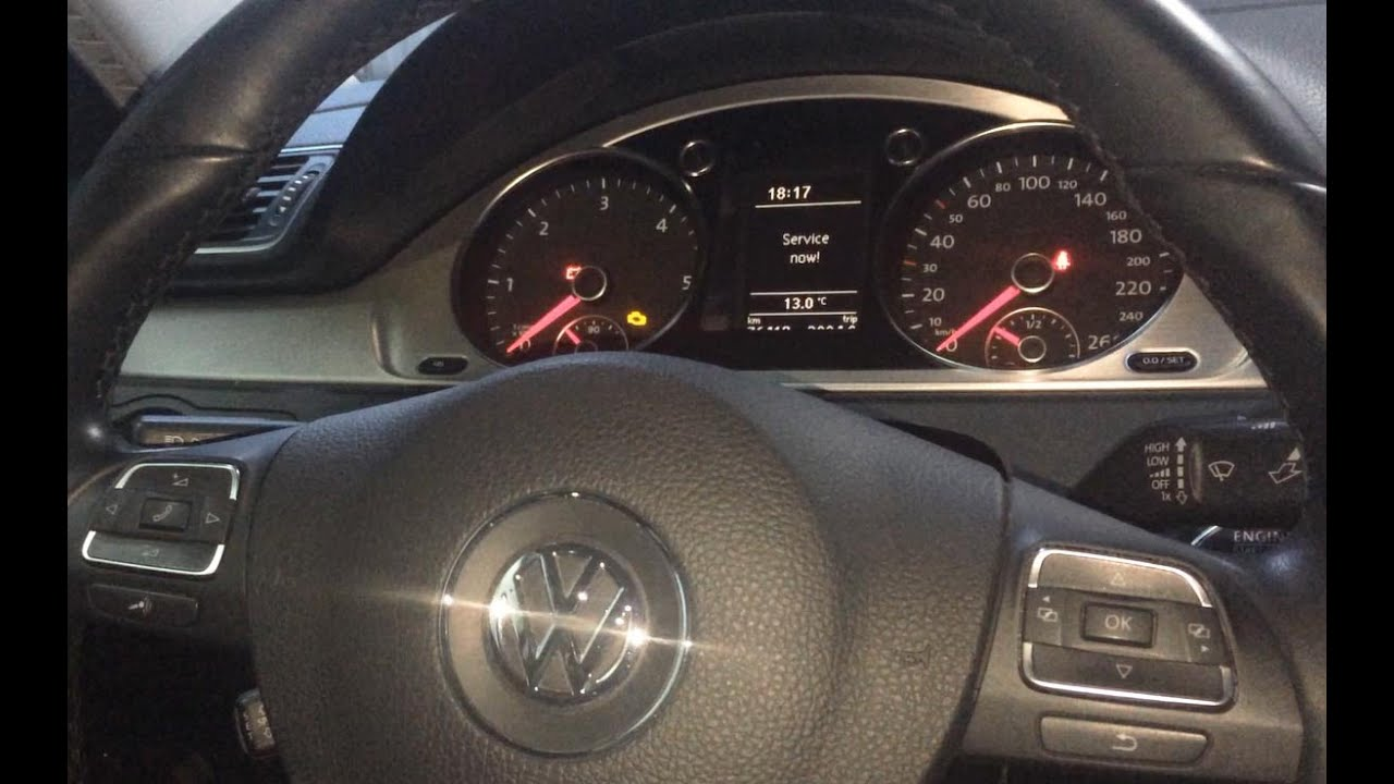 How To Reset Service Light  Service Now  Vw Passat B7 2011