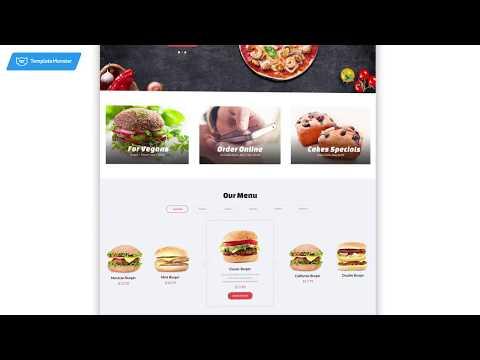Quick Food - HTML шаблон для сайта ресторана быстрого питания #61177