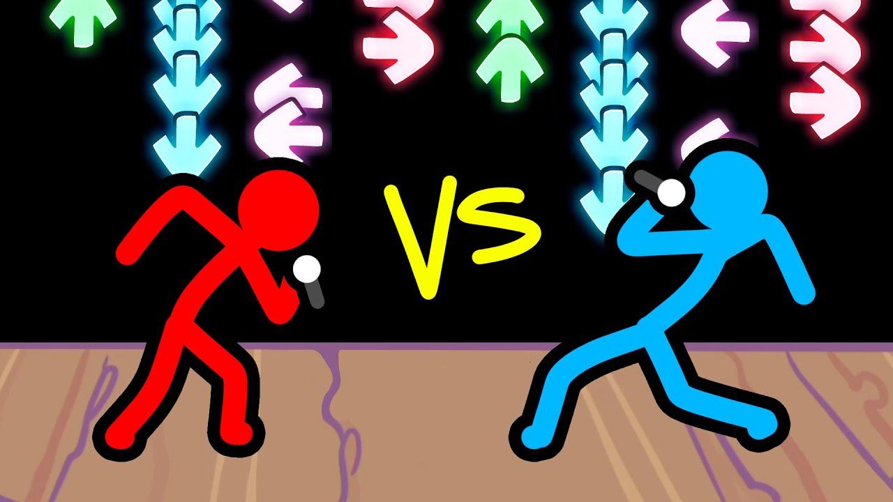 Stickman VS Minecraft: Friday Night Funkin - AVM Shorts Animation